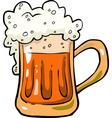 foamy mug of beer vector image vector image