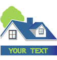 House with tree logo vector image