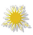 splash comic isolated icon vector image