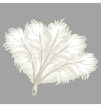 White feather fan vector image