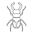 Rhinoceros beetle icon outline style vector image