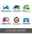 car logo template vector image