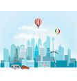 modern cityscape around the world concept vector image