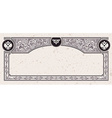 Calligraphic vintage frame certificate coupon vector image vector image