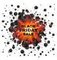Black friday sale abstract shaded cubes red vector image