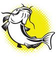 catfish jumping up vector image