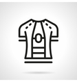 Sport shirt simple line icon vector image
