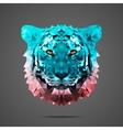 Bengal tiger poly Side light Rose Quartz vector image
