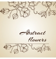 Abstract background with flowers in vintage style vector image