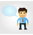Business man cartoon with speech balloon vector image