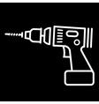 Cordless drill vector image