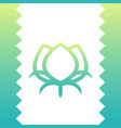 cotton line icon green logo element on white vector image