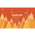 flat flag on mountain success goal achievement vector image