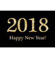 happy new year greeting card template for your vector image