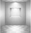 White room with niche vector image