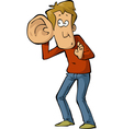 man with a large ear vector image