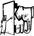 Elephant Door vector image vector image