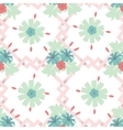 Seamless floral wallpaper background vector image vector image