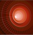 Abstract 3d red spiral tunnel vector image
