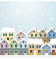 Winter Houses vector image