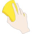 Hand with sponge vector image