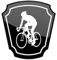 bicyclist emblem vector image