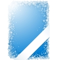 blue winter frame with snowflakes and ribbon vector image