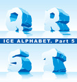 Ice alpfabet Part 5 vector image