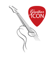 icon with guitar vector image