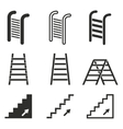 Ladder icon set vector image
