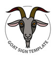 Linear stylized sign with goats head vector image