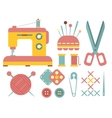 Sewing and Handicraft Accessories vector image