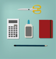 Stationery objects vector image