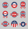 USA labels sign tag set vector image