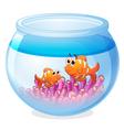 a water bowl and a fish vector image vector image