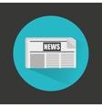 breaking news in newspaper vector image