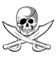 Jolly Roger vector image vector image