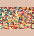 flat retro color geometric triangle background vector image