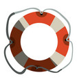 Colorful flotation hoop with tether and half vector image