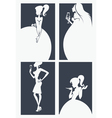 girls silhouettes collection vector image vector image