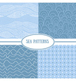 Set of sea seamless patterns tiling for abstract vector image