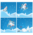 Adventures of Snowman Cartoons and Comics vector image vector image