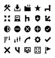 Controls and Navigation Arrows 6 vector image