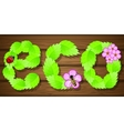 Eco background with flowers vector image