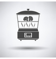 Kitchen steam cooker icon vector image