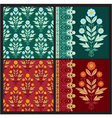 Set of Floral Design Elements vector image vector image