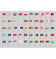 flags of Asia vector image vector image