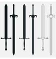 Ancient Swords Set vector image