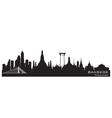 Bangkok Thailand skyline Detailed silhouette vector image