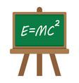 blackboard flat icon chalkboard and school vector image